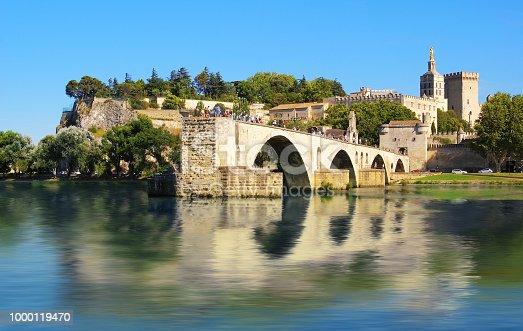 Avignon's  bridge crossing the Rhône