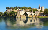 Avignon's  bridge crossing the Rhône