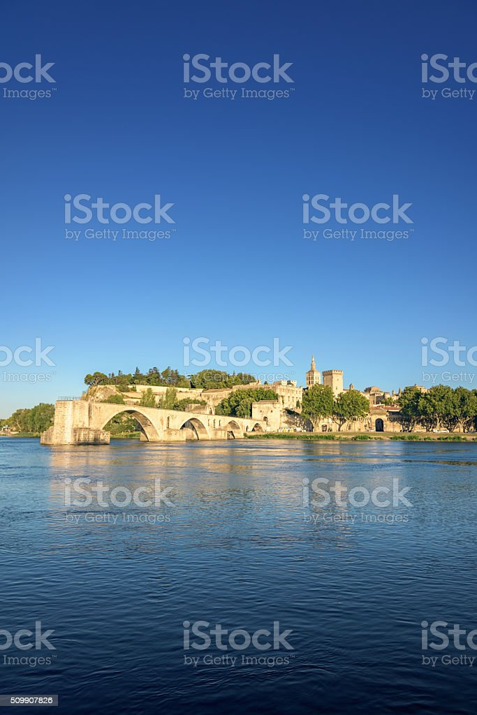 Avignon Bridge Saint-Benezet France stock photo
