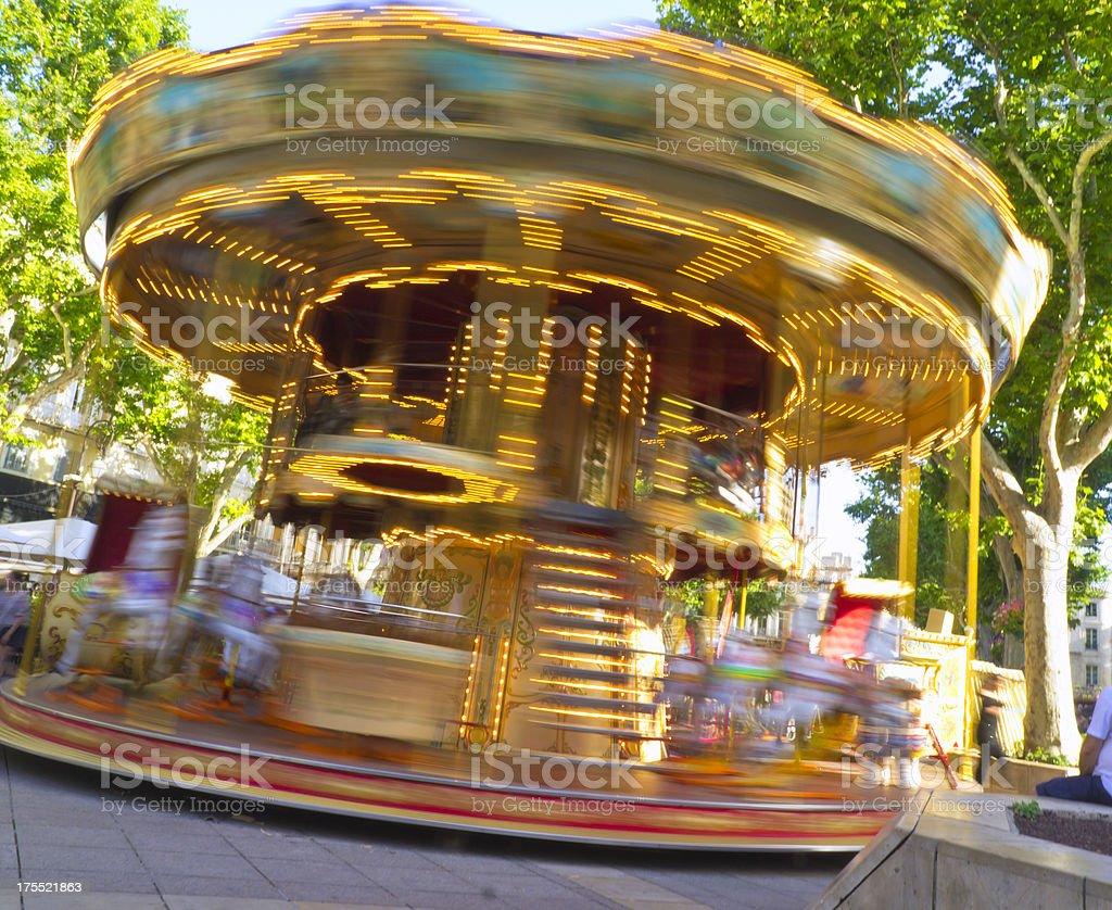Avignon Carousel stock photo