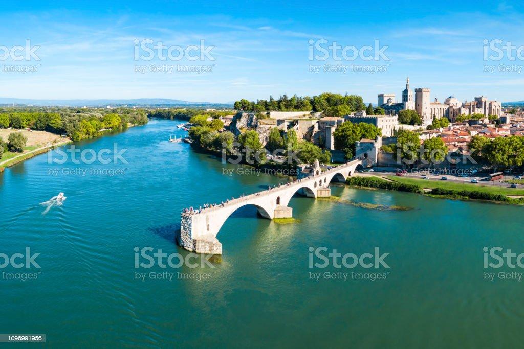 Avignon-Stadt Luftaufnahme, Frankreich – Foto