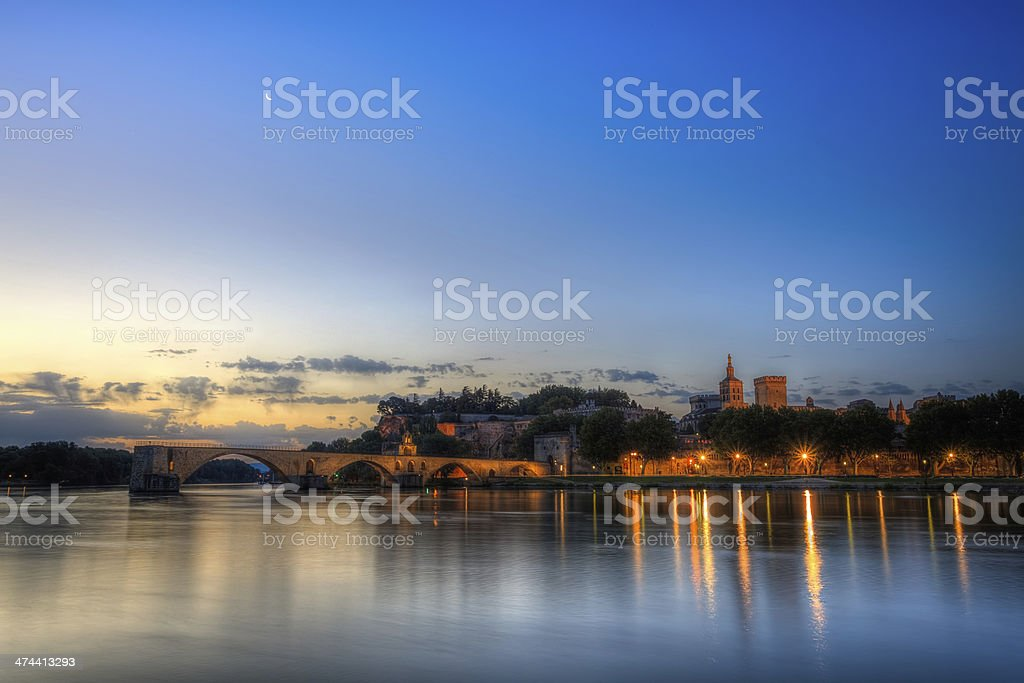 Avignon Night stock photo