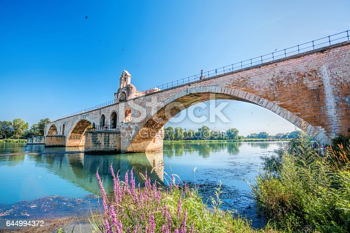 Avignon old bridge in Provence, France