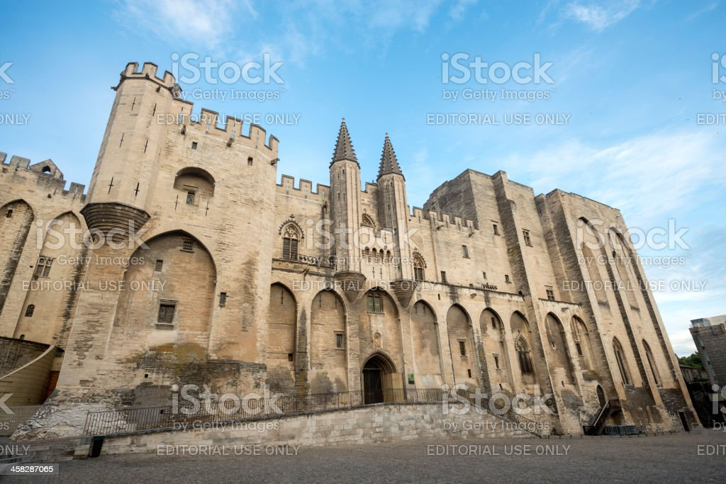 Avignon, Palais des Papes stock photo