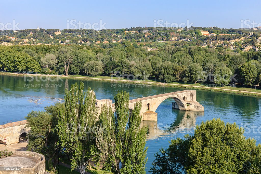 Avignon, Ponte Saint-Bénézet - France stock photo