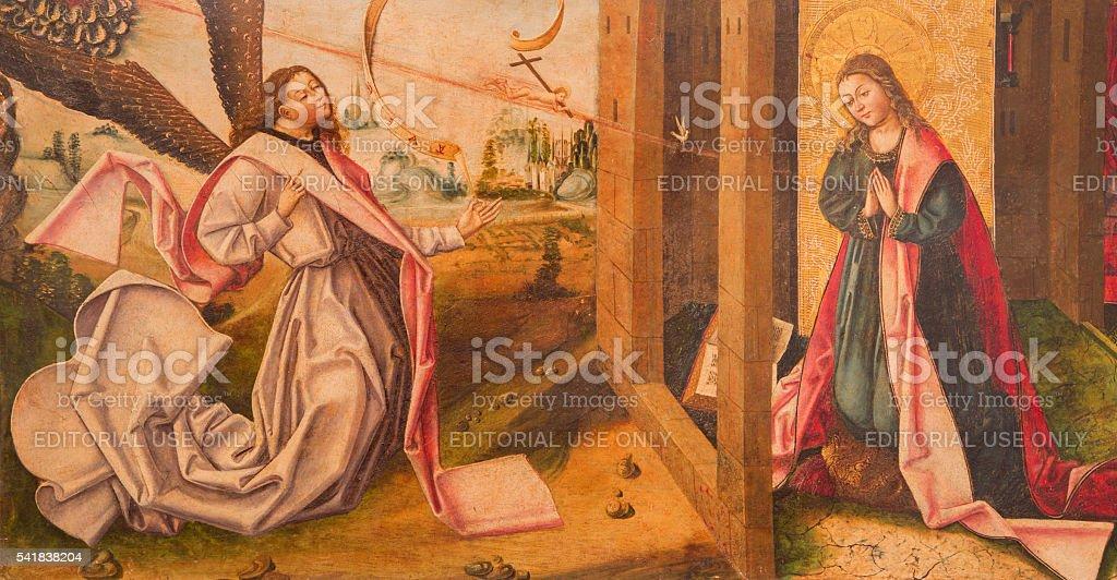 Avila-l'Annonciation peinture sur bois de Catedral - Photo