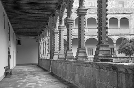 Avila - The atrium of Real monasterio de Santo Tomas.