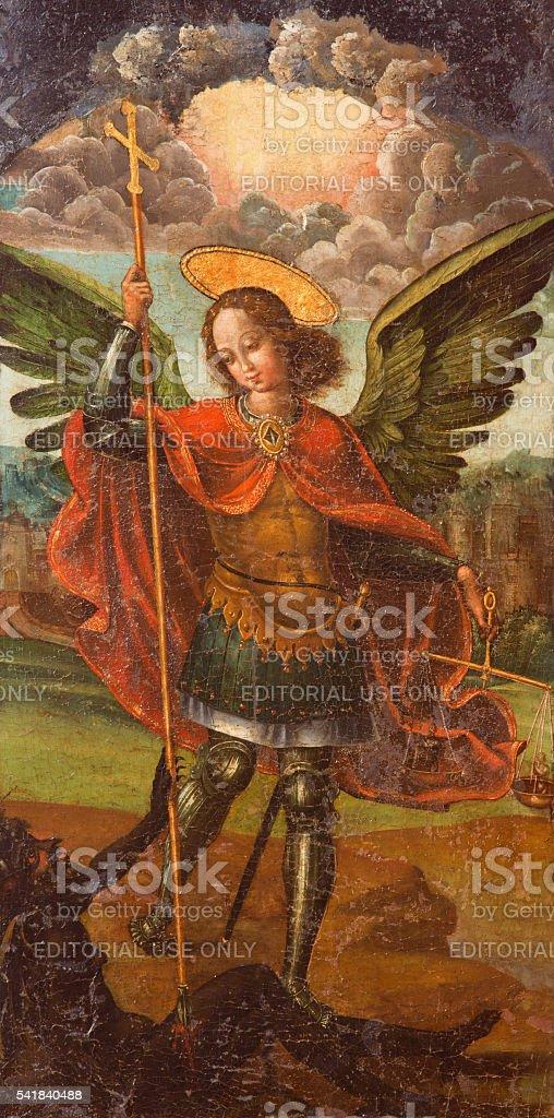 Avila - The paint of archangel Michael stock photo