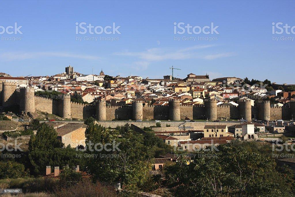 Avila townscape royalty-free stock photo
