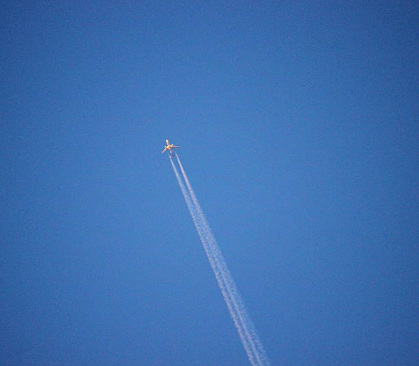 avion a chorro stock photo