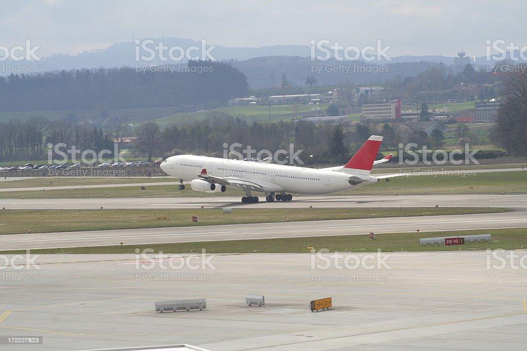 avion despegando stock photo