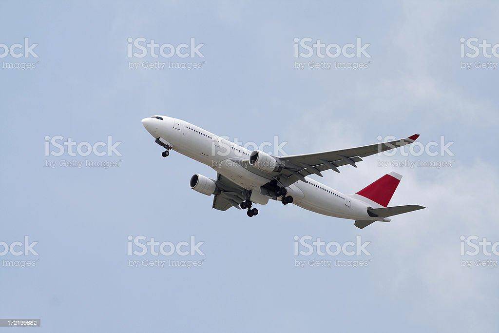 avion nubes stock photo