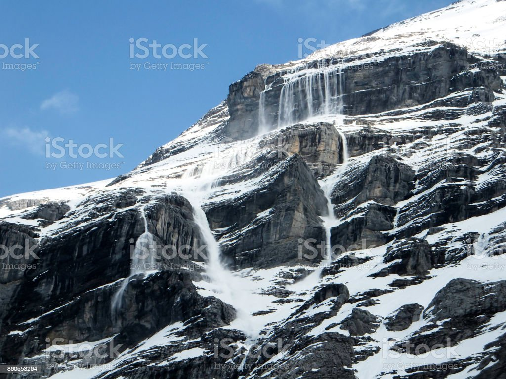 avlanches on the Eiger stock photo