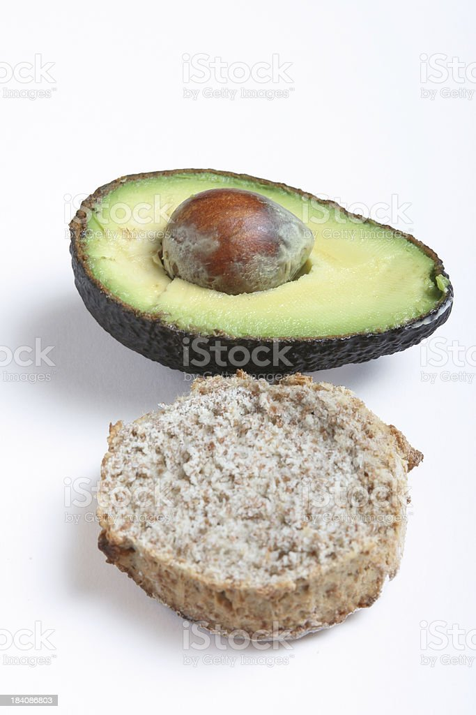 avocado and brown bread royalty-free stock photo