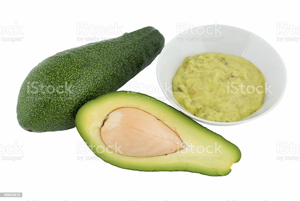Avocado and guacamole royalty-free stock photo