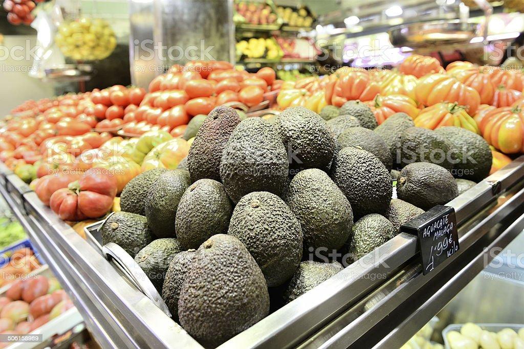 Avocado and tomato stock photo