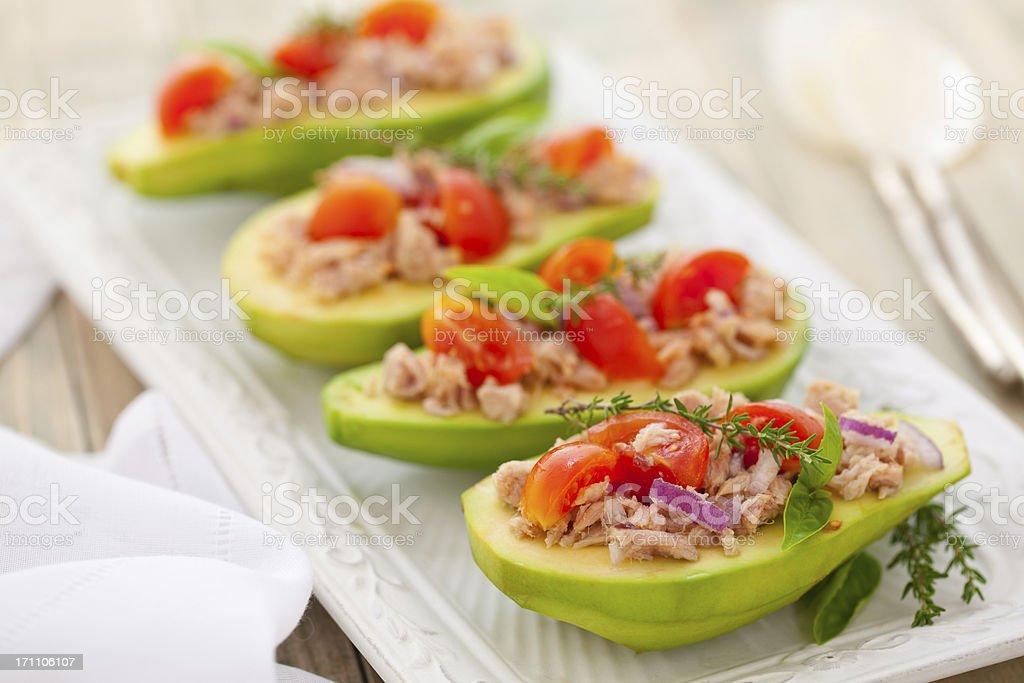Avocado and Tuna Salad. stock photo