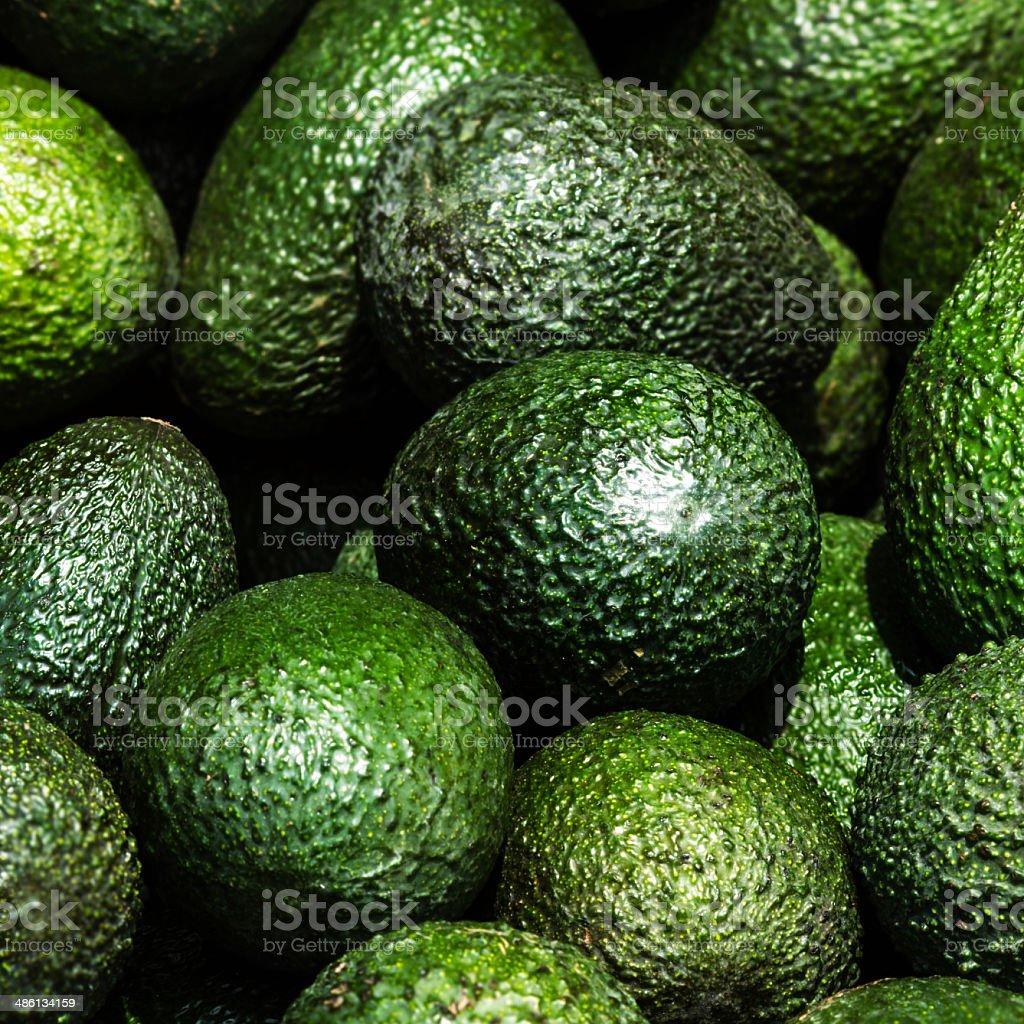 Abacate fundo.  Verde frescas - foto de acervo