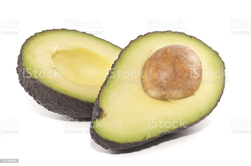 Avocado cut in half royalty-free stock photo