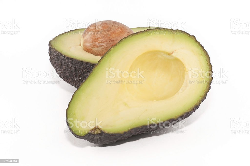 Avocado cut in half royalty-free stock photo