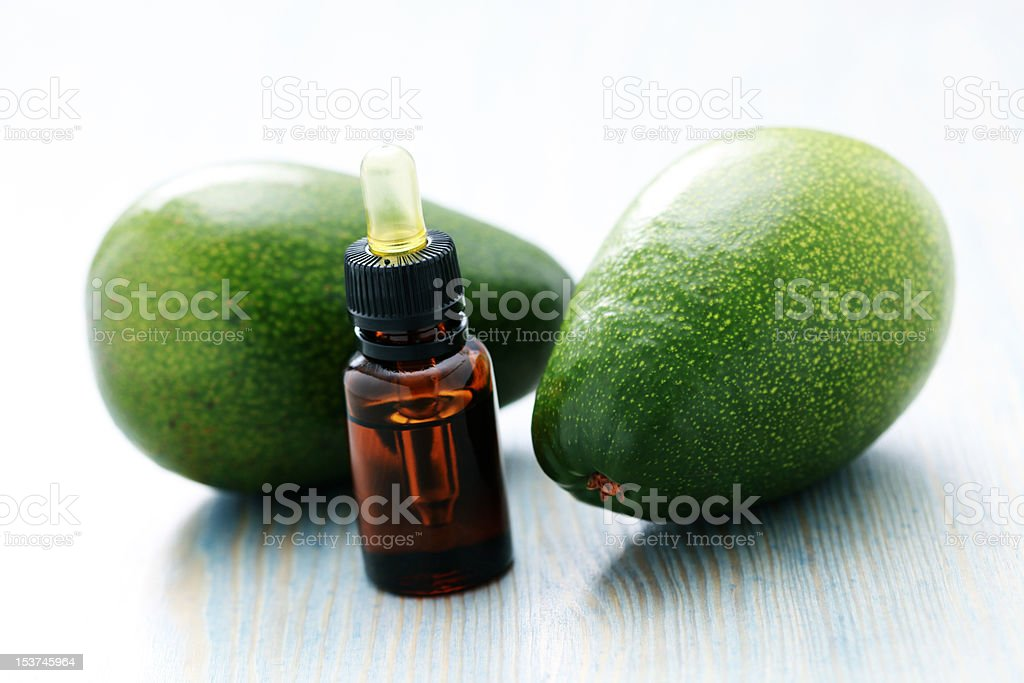 avocado essential oil royalty-free stock photo