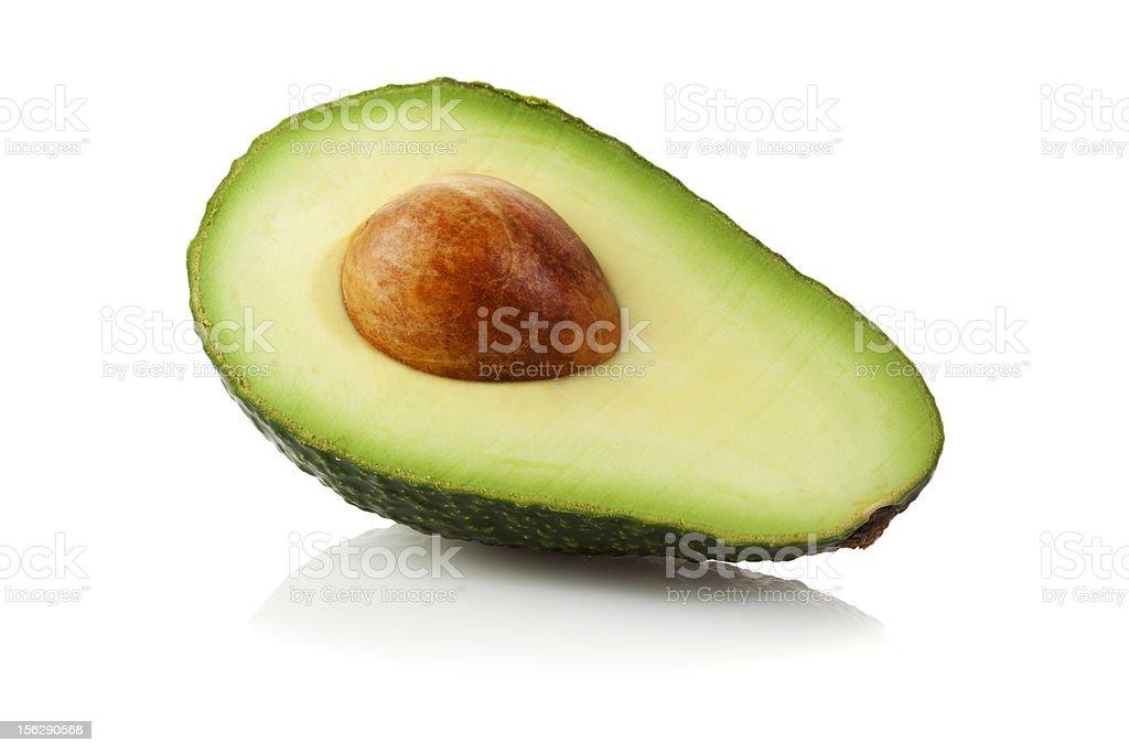 Avocado half isolated stock photo
