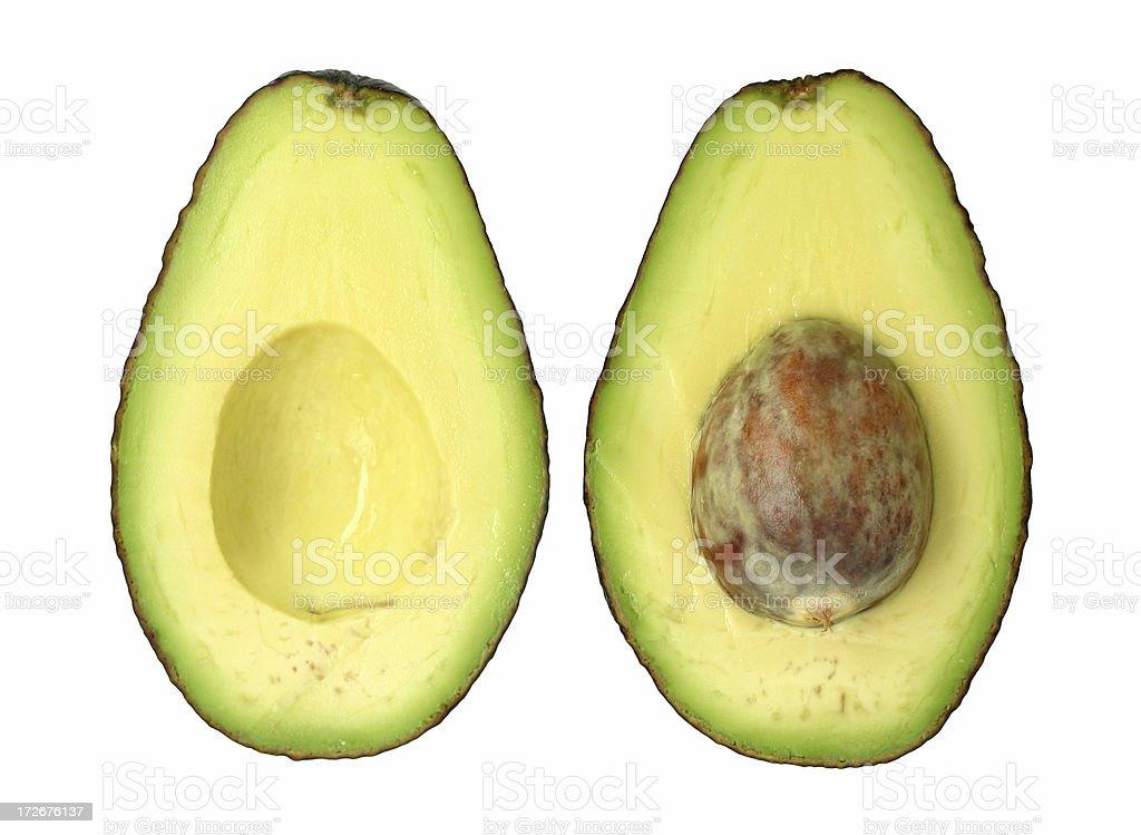 avocado, halved royalty-free stock photo