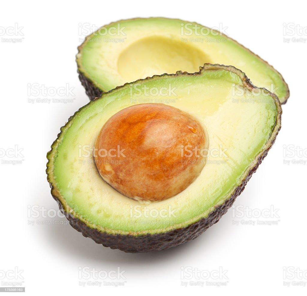 Avocado halves stock photo