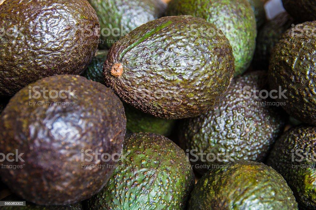 Avocado in a market stock photo