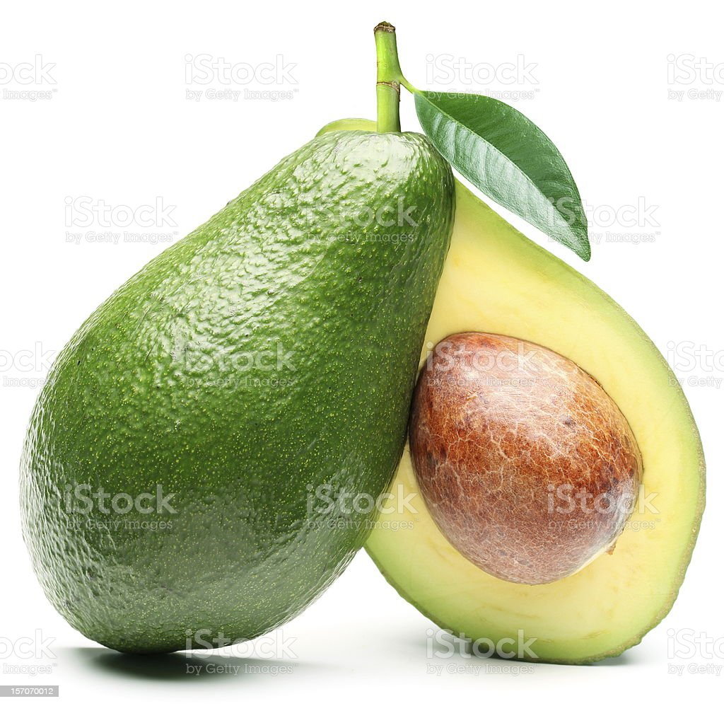 Avocado isolated on a white background stock photo