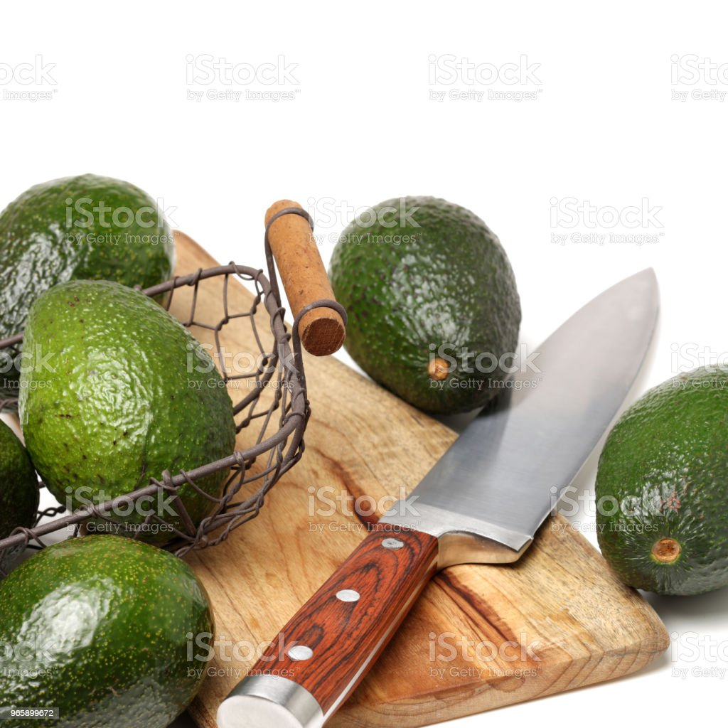 Avocado isolated on white background - Royalty-free Avocado Stock Photo