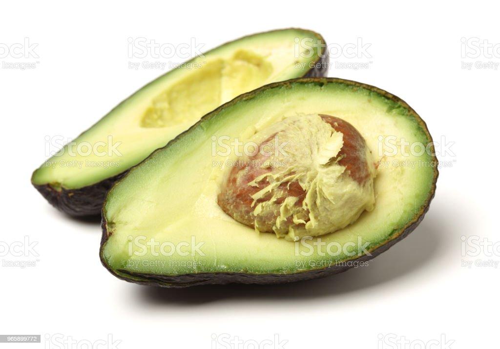 Avocado isolated on white background - Royalty-free Avocado Stock Photo