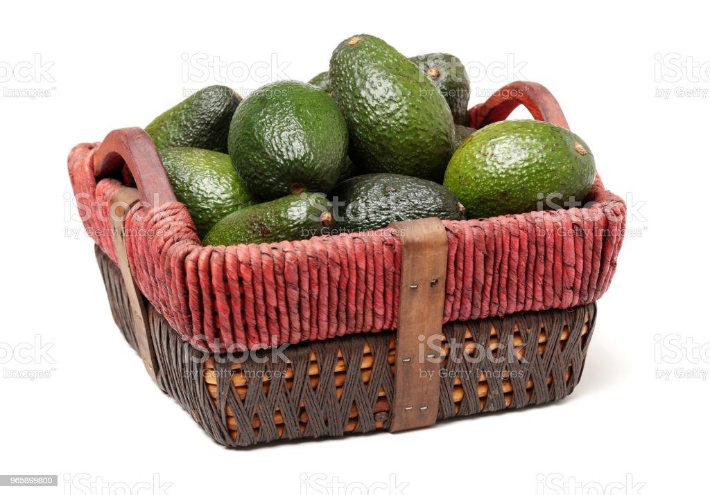 Avocado geïsoleerd op witte achtergrond - Royalty-free Avocado Stockfoto