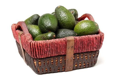 Avocado Geïsoleerd Op Witte Achtergrond Stockfoto en meer beelden van Avocado