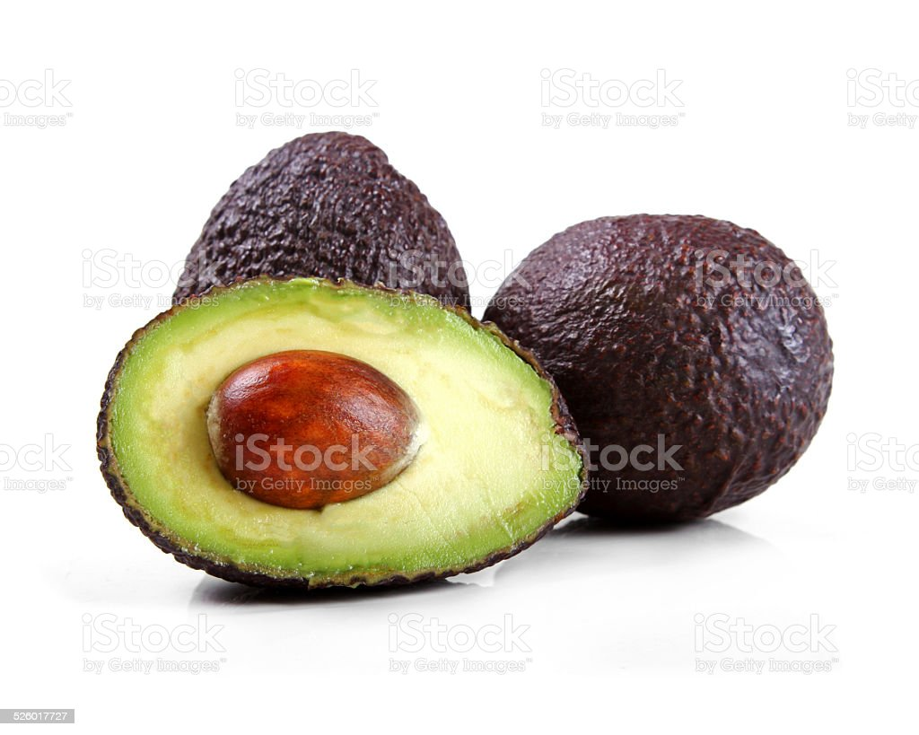 avocado isolated on white stock photo