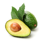 Avocado on a white background