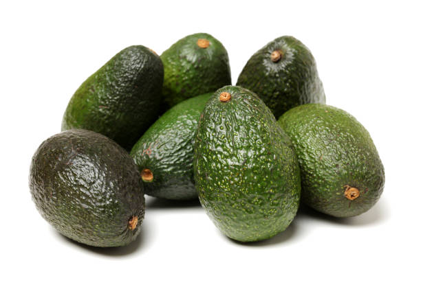 Avocado on a white background – zdjęcie