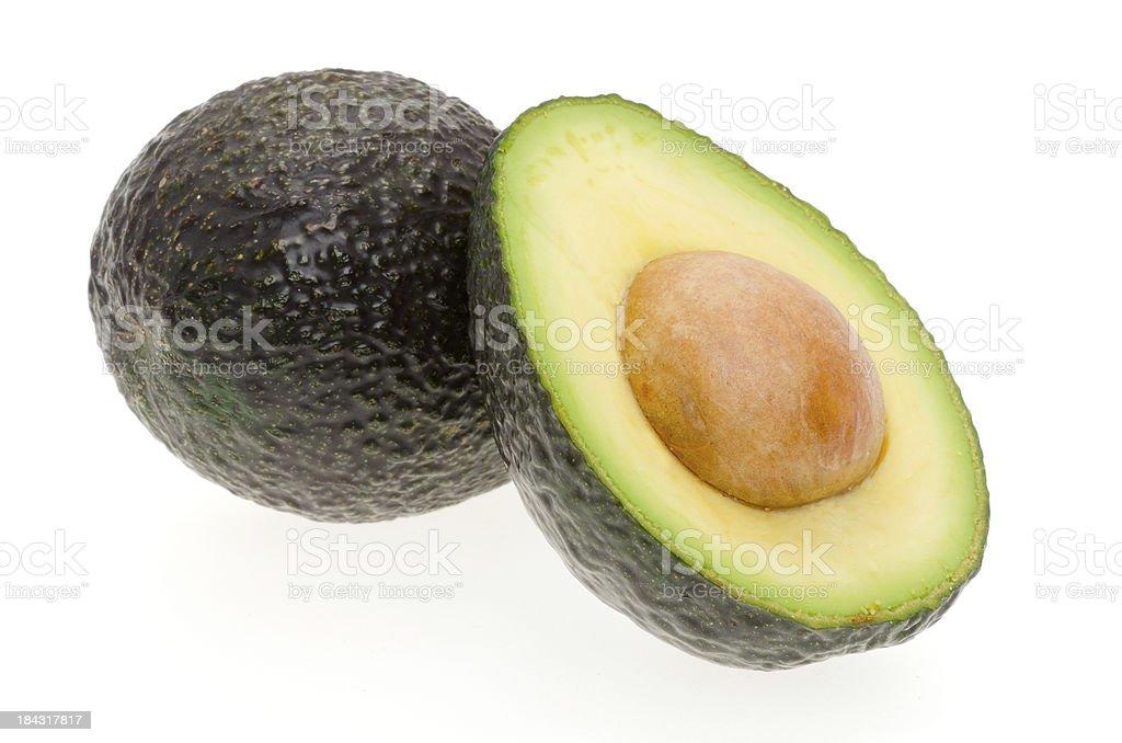 Avocado on a white background stock photo