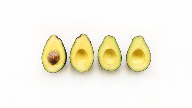 Avocado on white background stock photo