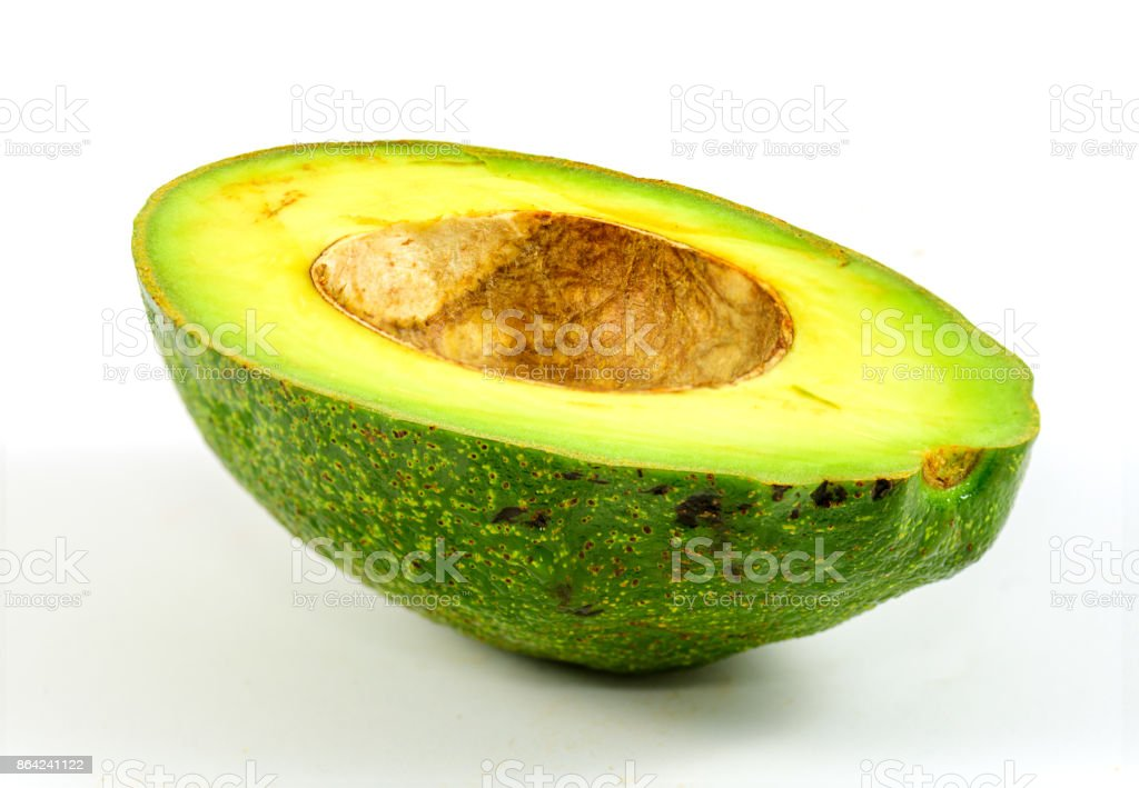Avocado on white background. royalty-free stock photo