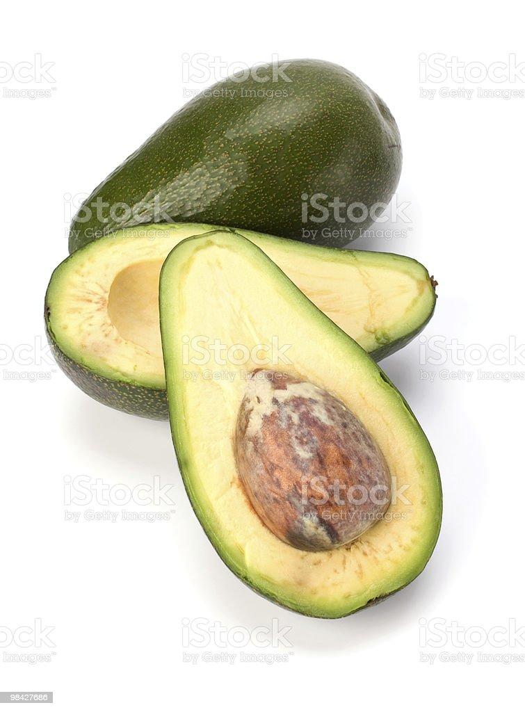 avocado over white background royalty-free stock photo