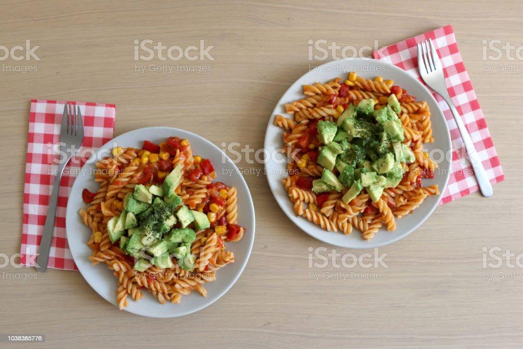 Avocado Pasta stock photo