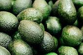 Fresh organic avocado at farmer's market