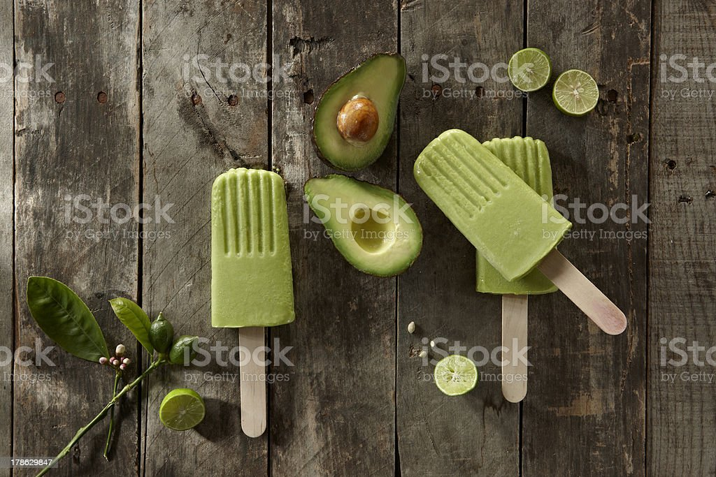 Avocado Popsicle stock photo