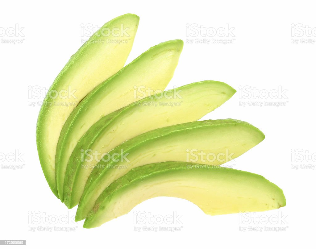 avocado slices stock photo
