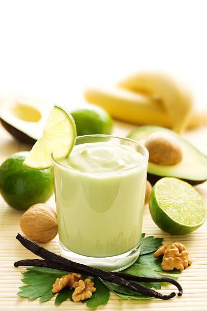 Avocado smoothie stock photo