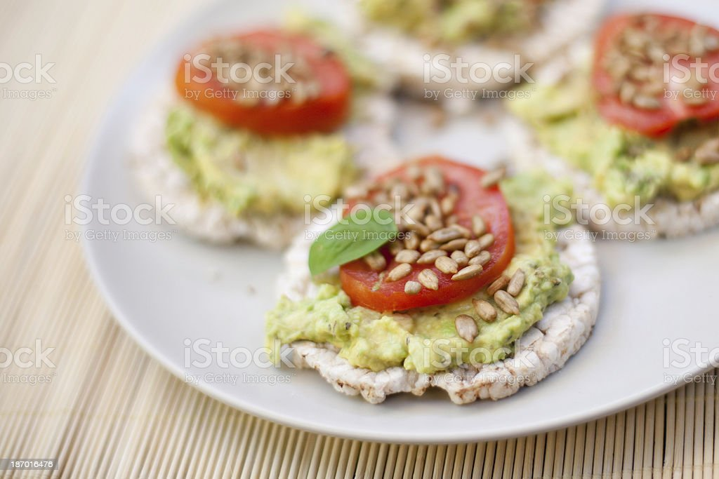 Avocado Snack stock photo