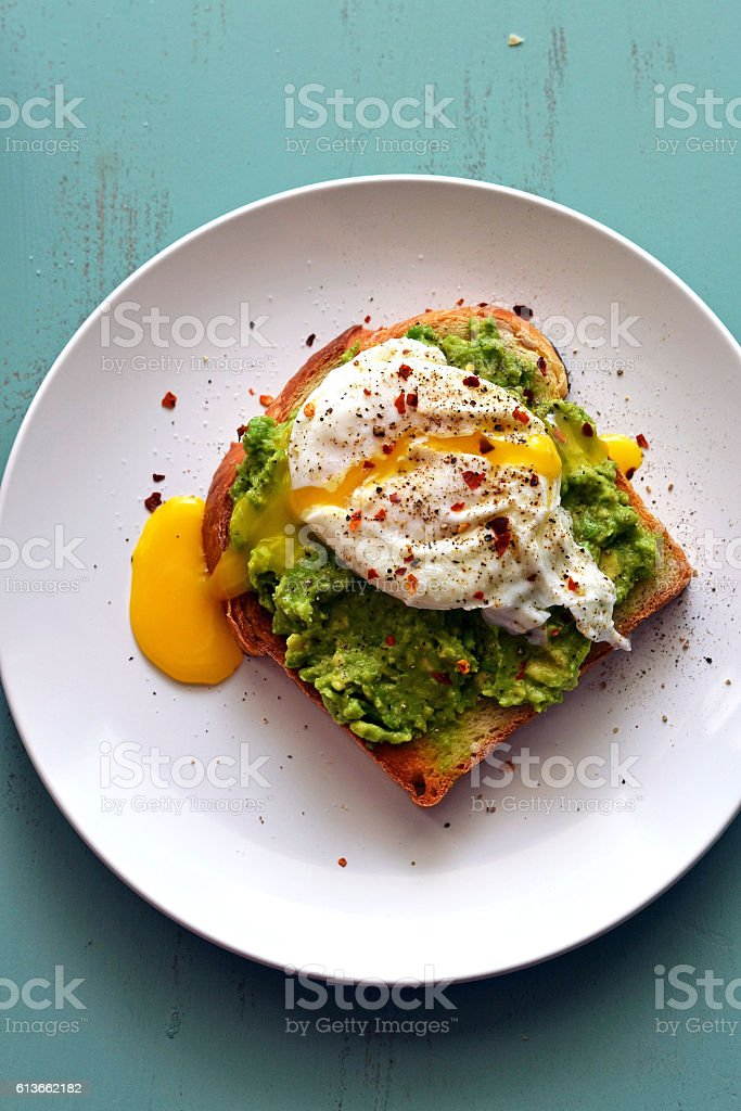 Avocado Toast stock photo