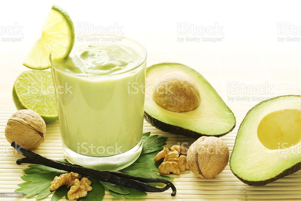 Avocado vanilla smoothie royalty-free stock photo