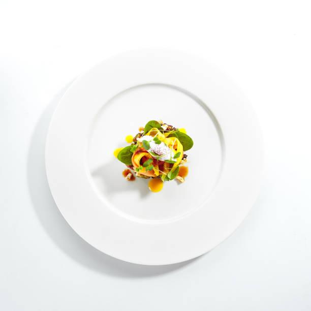 avocado with mozzarella cream and dried tomato jam - confiture tomatoes imagens e fotografias de stock